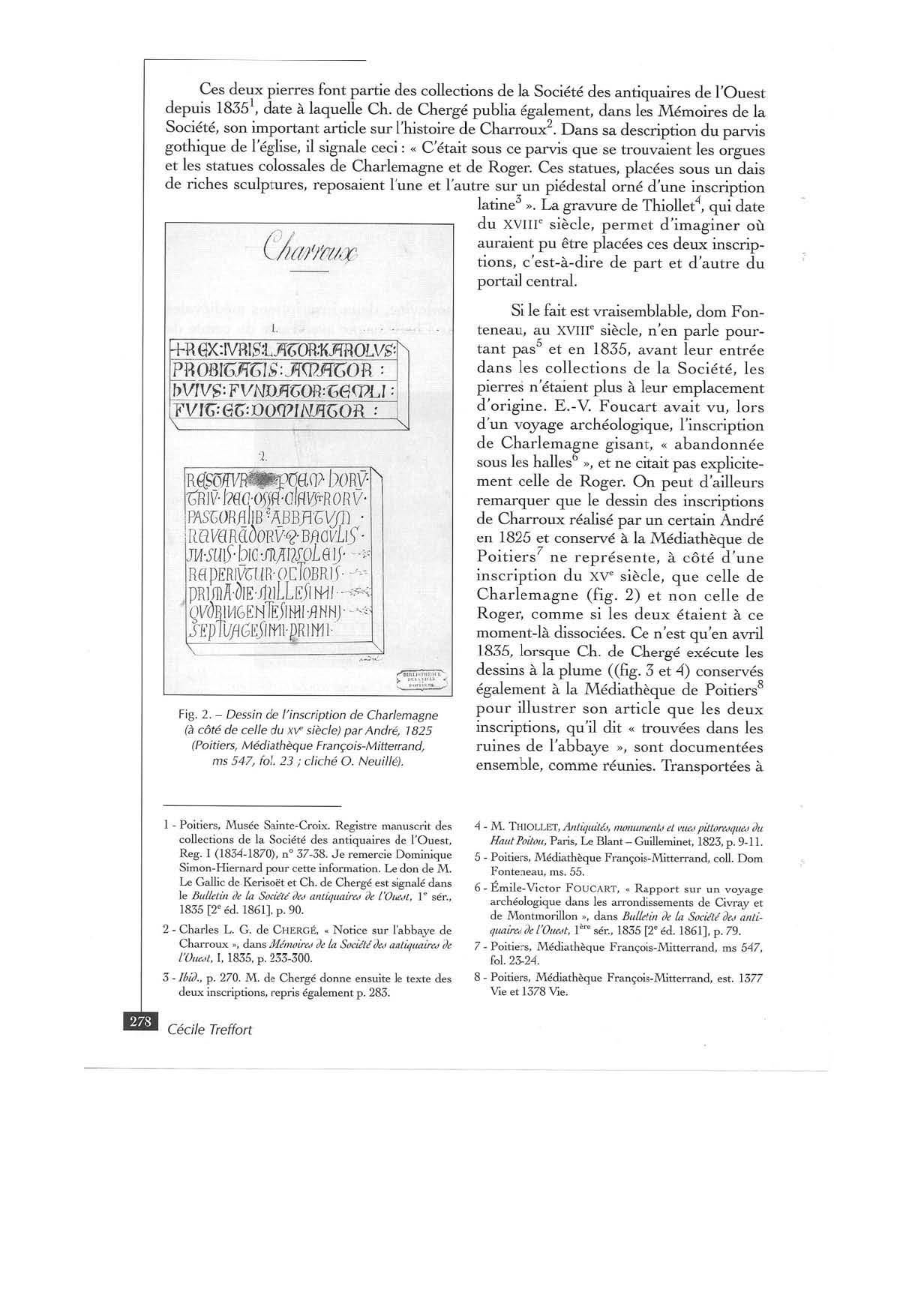 CHARLEMAGNE A CHARROUX - TREFFORT - RHCO 2007:2