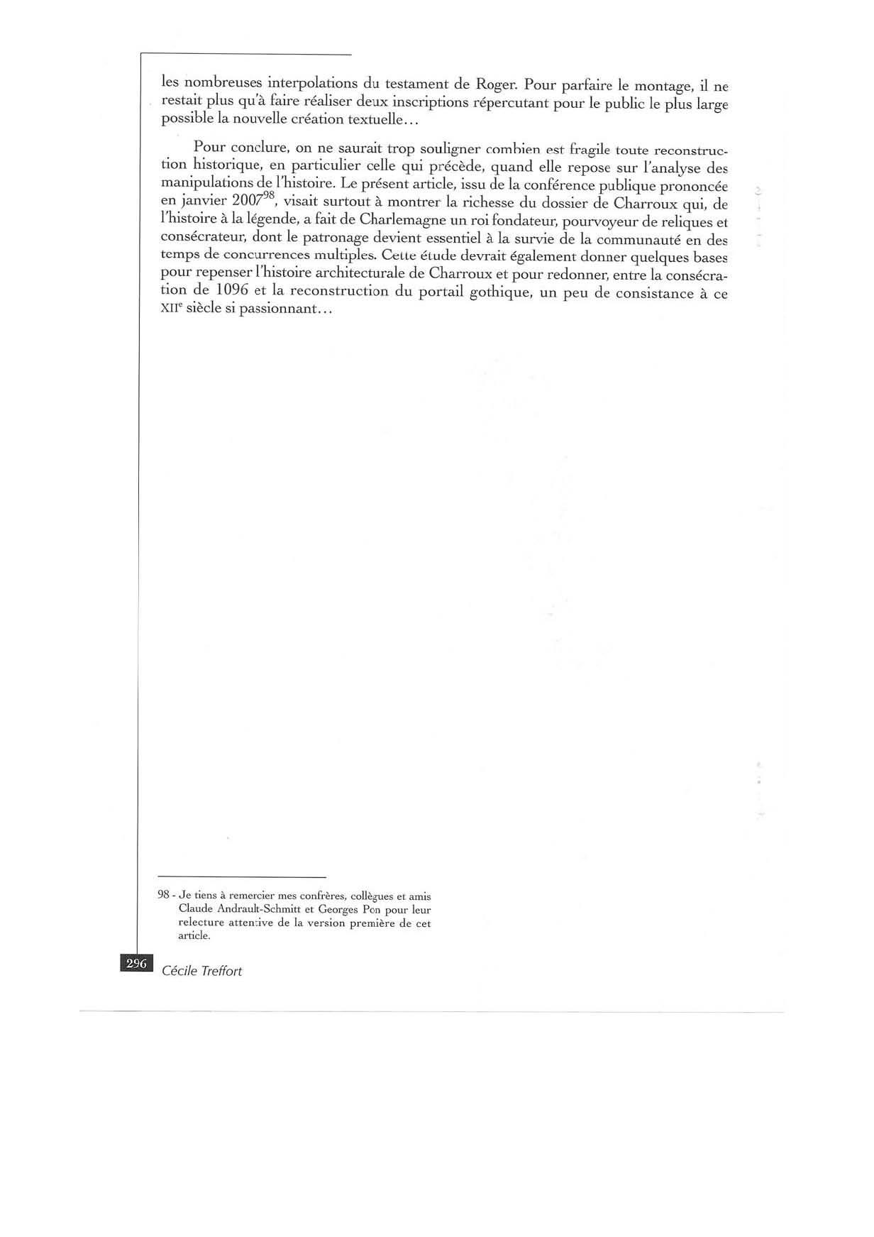 CHARLEMAGNE A CHARROUX - TREFFORT - RHCO 2007:20