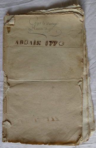 CHARROUX ABBAYE RECETTES 1770 - Coll ©KARROFUM all   001