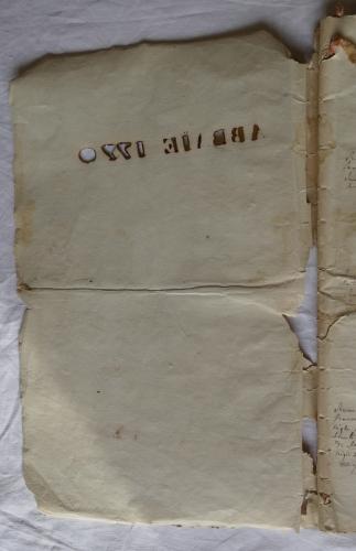 CHARROUX ABBAYE RECETTES 1770 - Coll ©KARROFUM all   002
