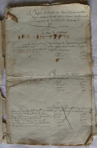 CHARROUX ABBAYE RECETTES 1770 - Coll ©KARROFUM all   003