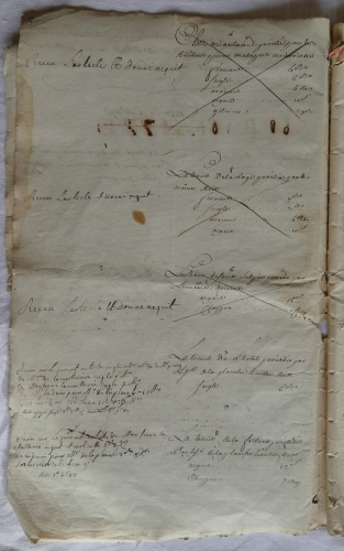 CHARROUX ABBAYE RECETTES 1770 - Coll ©KARROFUM all   005