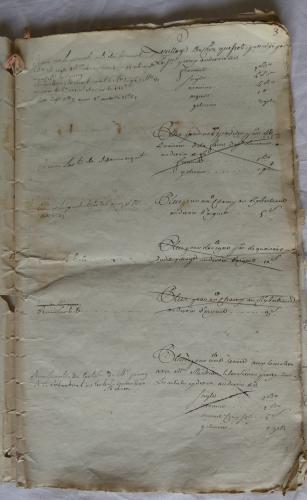 CHARROUX ABBAYE RECETTES 1770 - Coll ©KARROFUM all   006