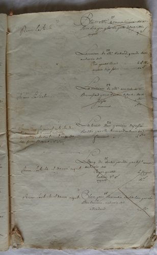CHARROUX ABBAYE RECETTES 1770 - Coll ©KARROFUM all   008