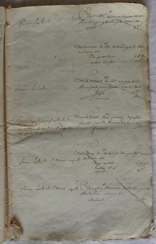 CHARROUX ABBAYE RECETTES 1770 - Coll ©KARROFUM all   011
