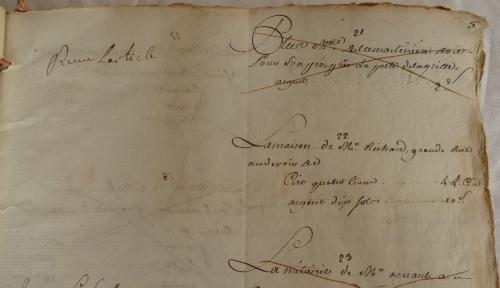 CHARROUX ABBAYE RECETTES 1770 - Coll ©KARROFUM all   012