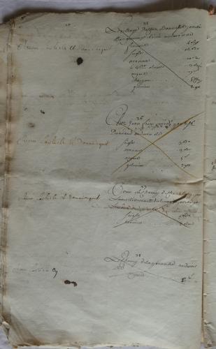 CHARROUX ABBAYE RECETTES 1770 - Coll ©KARROFUM all   015