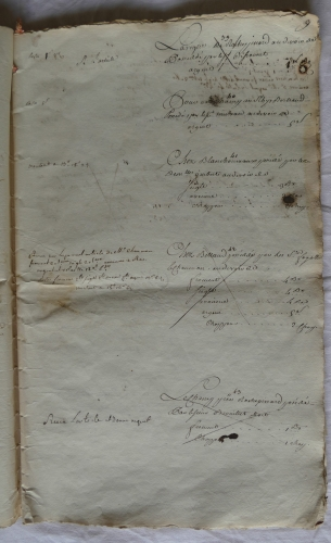CHARROUX ABBAYE RECETTES 1770 - Coll ©KARROFUM all   016