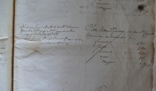 CHARROUX ABBAYE RECETTES 1770 - Coll ©KARROFUM all   017