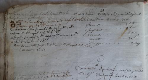 CHARROUX ABBAYE RECETTES 1770 - Coll ©KARROFUM all   019