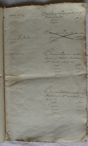 CHARROUX ABBAYE RECETTES 1770 - Coll ©KARROFUM all   021