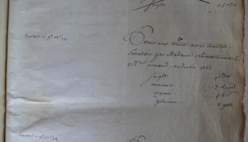CHARROUX ABBAYE RECETTES 1770 - Coll ©KARROFUM all   022