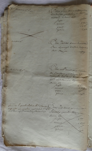 CHARROUX ABBAYE RECETTES 1770 - Coll ©KARROFUM all   023