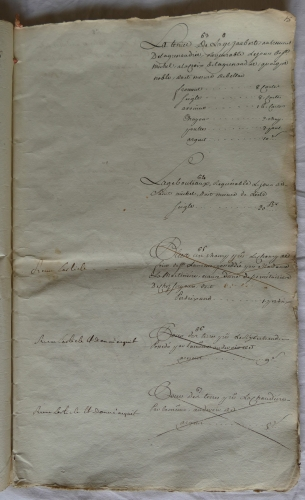 CHARROUX ABBAYE RECETTES 1770 - Coll ©KARROFUM all   026
