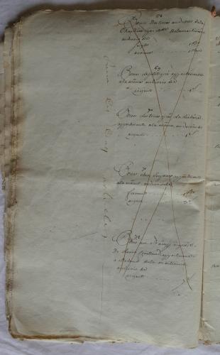 CHARROUX ABBAYE RECETTES 1770 - Coll ©KARROFUM all   027
