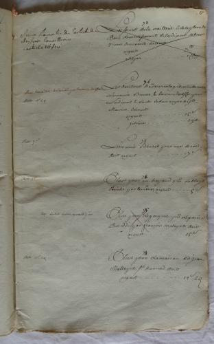 CHARROUX ABBAYE RECETTES 1770 - Coll ©KARROFUM all   029