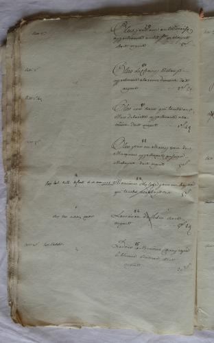 CHARROUX ABBAYE RECETTES 1770 - Coll ©KARROFUM all   030