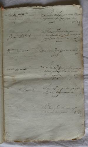 CHARROUX ABBAYE RECETTES 1770 - Coll ©KARROFUM all   033