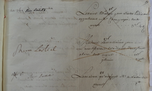CHARROUX ABBAYE RECETTES 1770 - Coll ©KARROFUM all   034