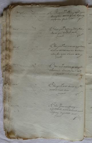 CHARROUX ABBAYE RECETTES 1770 - Coll ©KARROFUM all   035