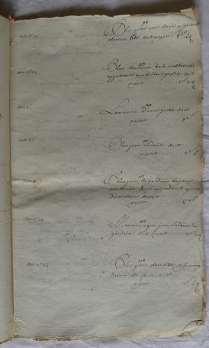 CHARROUX ABBAYE RECETTES 1770 - Coll ©KARROFUM all   036