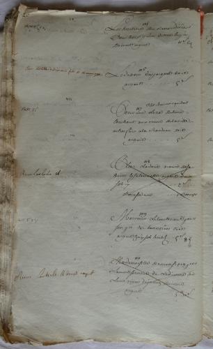CHARROUX ABBAYE RECETTES 1770 - Coll ©KARROFUM all   037