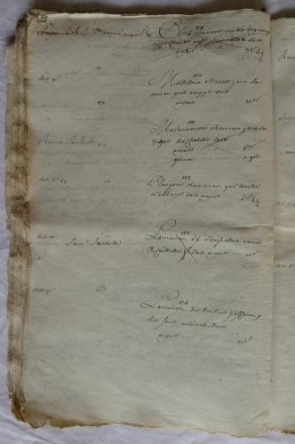 CHARROUX ABBAYE RECETTES 1770 - Coll ©KARROFUM all   041
