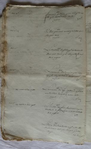 CHARROUX ABBAYE RECETTES 1770 - Coll ©KARROFUM all   044
