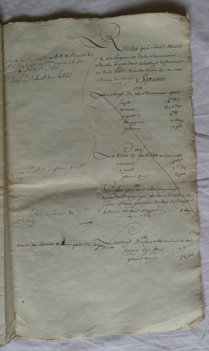 CHARROUX ABBAYE RECETTES 1770 - Coll ©KARROFUM all   045