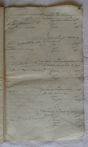 CHARROUX ABBAYE RECETTES 1770 - Coll ©KARROFUM all   050