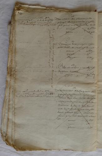 CHARROUX ABBAYE RECETTES 1770 - Coll ©KARROFUM all   051