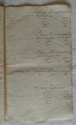 CHARROUX ABBAYE RECETTES 1770 - Coll ©KARROFUM all   054