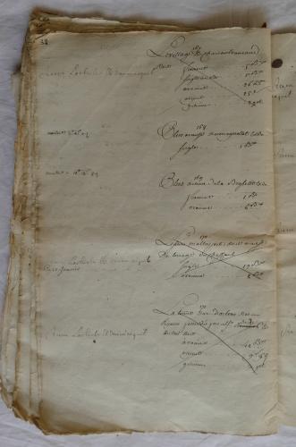 CHARROUX ABBAYE RECETTES 1770 - Coll ©KARROFUM all   055