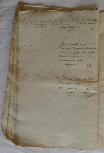 CHARROUX ABBAYE RECETTES 1770 - Coll ©KARROFUM all   057