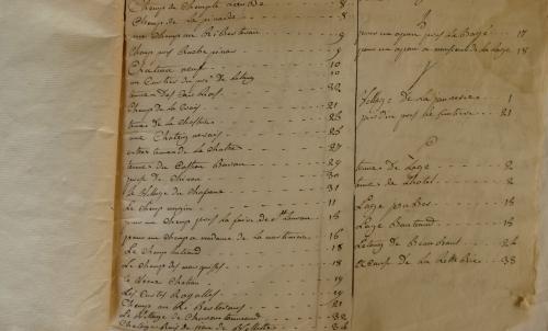 CHARROUX ABBAYE RECETTES 1770 - Coll ©KARROFUM all   065