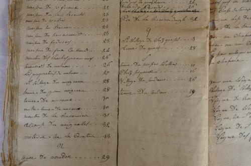 CHARROUX ABBAYE RECETTES 1770 - Coll ©KARROFUM all   068
